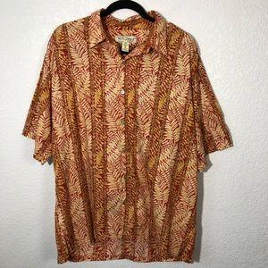 Tori Richard Hawaiian Button-Up Shirt Size XL